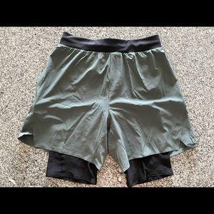 Lululemon Diffract Run Lined Shorts Small Yoga Lab